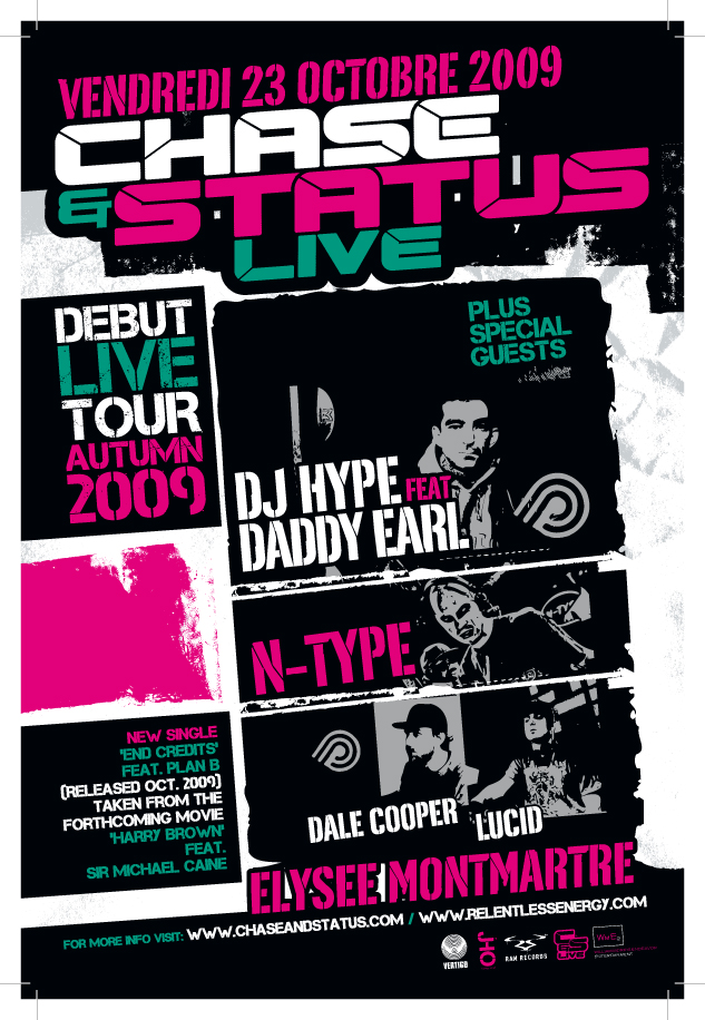 Chase Status Live launch party Chase & Status Live @ Paris   2x2 places  gagner