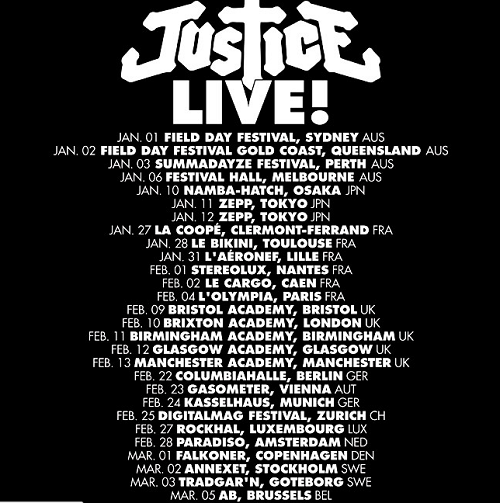 Justice World Tour 2011