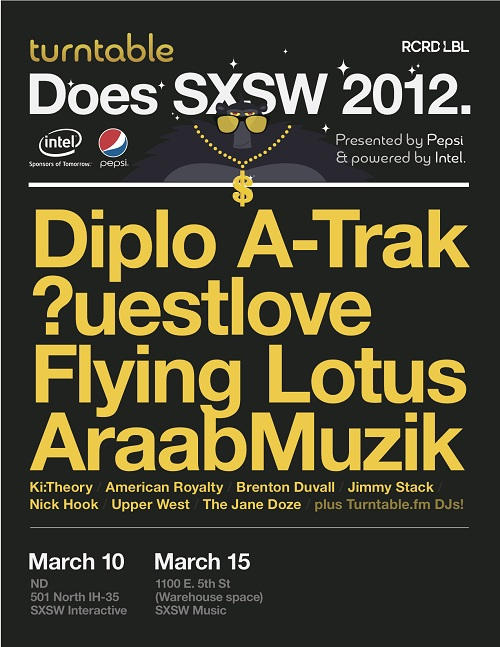 SXSW 2012 w Diplo Atrak Flying Lotus more SXSW 2012  w/ Diplo   Atrak   Flying Lotus & more | Contest