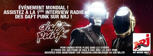 Daft Punk NRJ Premire interview radio des Daft Punk sur NRJ en mai prochain