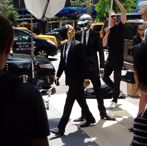 Daft Punk New York 2013 Daft Punk : Shooting photo et vidéo à New York, Get Lucky EP le 16 juillet