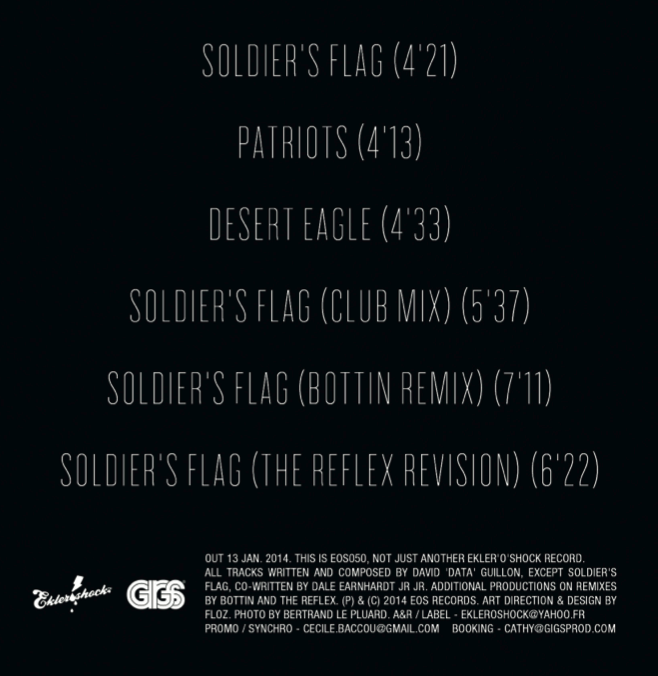 DatA - Soldier's Flag EP (back cover)