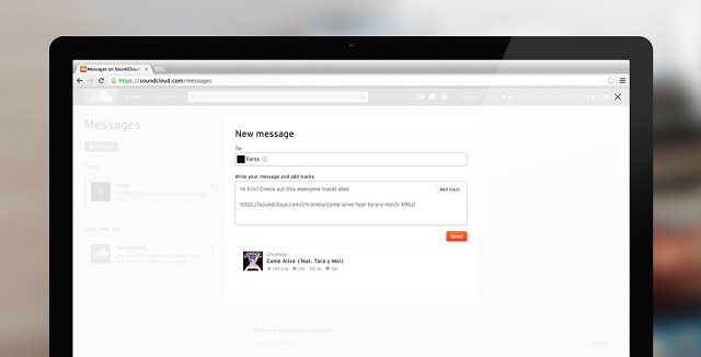 Nouvelle Messagerie SoundCloud