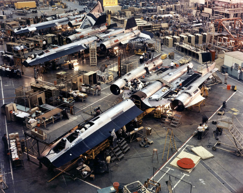 SR-71 factory floor
